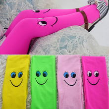 candy color children tights for baby girls kids cute Smile Face velvet pantyhose tights stockings for girls dance tights v tree baby tights vertical striped child pantyhose knitted girls stockings candy color tights for kids school stockings