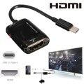 Tipo c mhl usb 3.1 macho para hdmi fêmea 1080 p hdtv Cabo adaptador Para HD TV LCD Laptop saída Vedio Acessórios Do Telefone