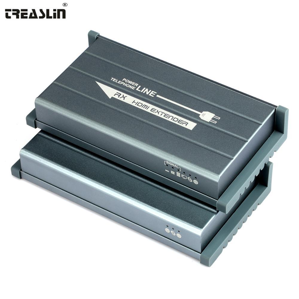 TreasLin Pour un Usage Domestique Seulement HDMI Extender Sur La Maison de Ligne Électrique ou Ligne Téléphonique RJ11 jusqu'à 656 FT pour HDTV DVD Projecteur Caméra