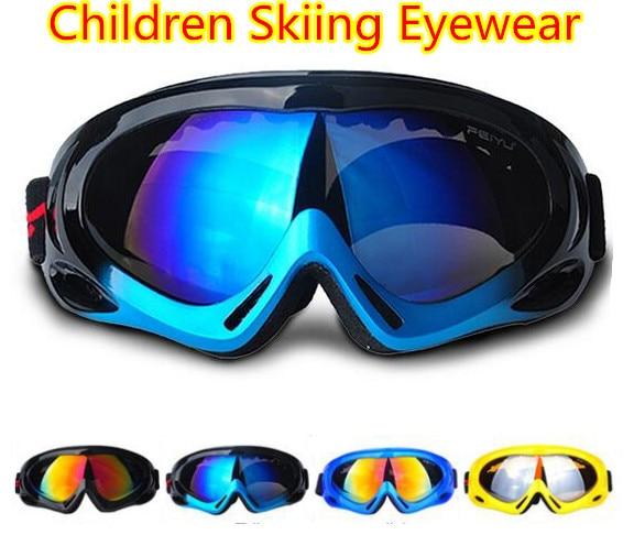 Prix pour Ski lunettes miroir Simple couche lunettes enfants lunettes vent poussière alpinisme sports de plein air Ski Lunettes