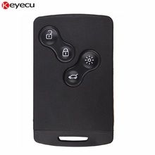 Keyecu 5PCS/lot Removable 4 Button Smart Key Card Remote Key Shell Case Fob for Renault Laguna Megane 2009-2012 with Uncut Blade