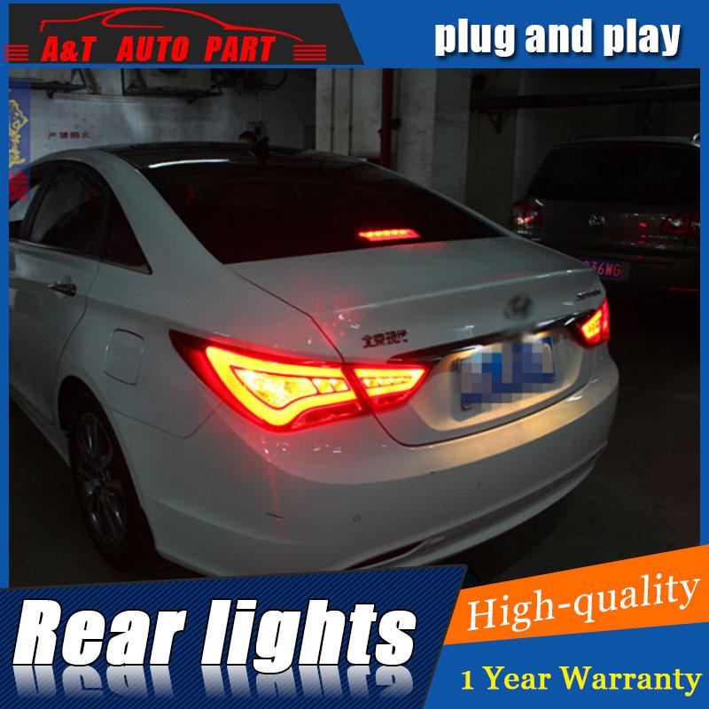 Авто.Про 2011-2014 для Хендай Соната хвост автомобилей свет стайлинга для Hyundai Соната 8 задние огни DRL задние фонари противотуманные фары парковка