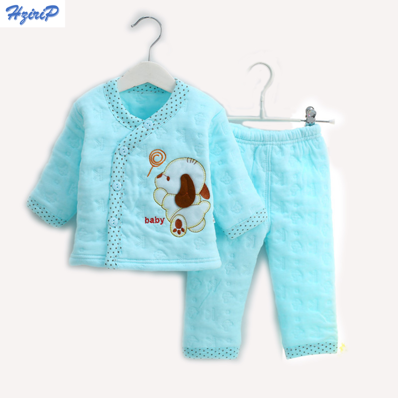 Hrizip Cotton Winter Suit Baby Girl Clothing Set Animal Lovely Suit Warm Tops Pants Infant Newborn Baby Boy Winter Clothes Sets flower background wall painting photo wall murals wallpaper home decoration living 3d wallpaper