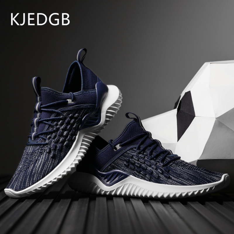 KJEDGB New Product Design Men Sneakers Lace Up Men Casual Shoes Breathable Male Adult Tenis Light Shoes Man Comfortable Loafers