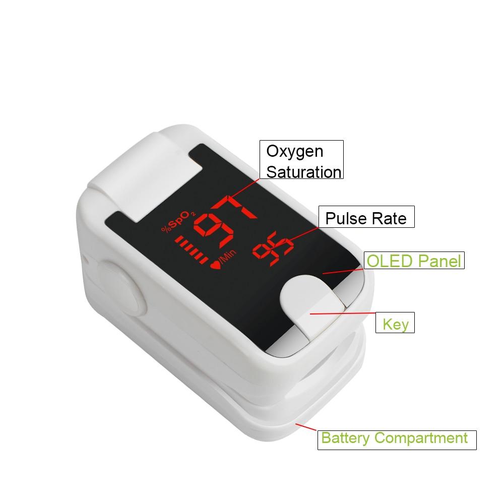 Fingertip Digital Pulse Oximeter OLED Display Oximetro De Pulso De Dedo SpO2 Saturation Meter Pulse Oximeter- lson fingertip pulse oximeter