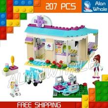 207pcs New 79165 Friends Series Vet Clinic Model Building Brick Blocks Educational Toys girls Birthday Gift
