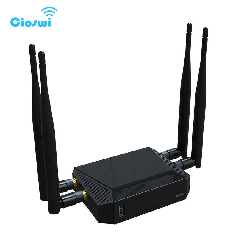Cioswi 1200 Mbps Wifi נתב 3G/4G מודם כרטיס ה-SIM חריץ OpenWrt 300 Mbps גבוהה כוח אלחוטי נתב עם 4 * 5dBi אנטנה