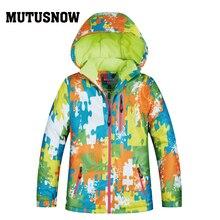 Ski Jacket Boy Girl Winter Brands High Quality Waterproof Breathable Thicken Super Warm -30 Degrees Snowboard Snow Jacket Kids