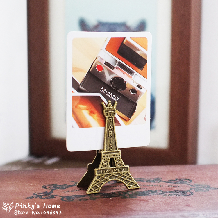 Vintage Metal Eiffel Tower Paris Memo Clip Message Holders Card Holder Photo Clip