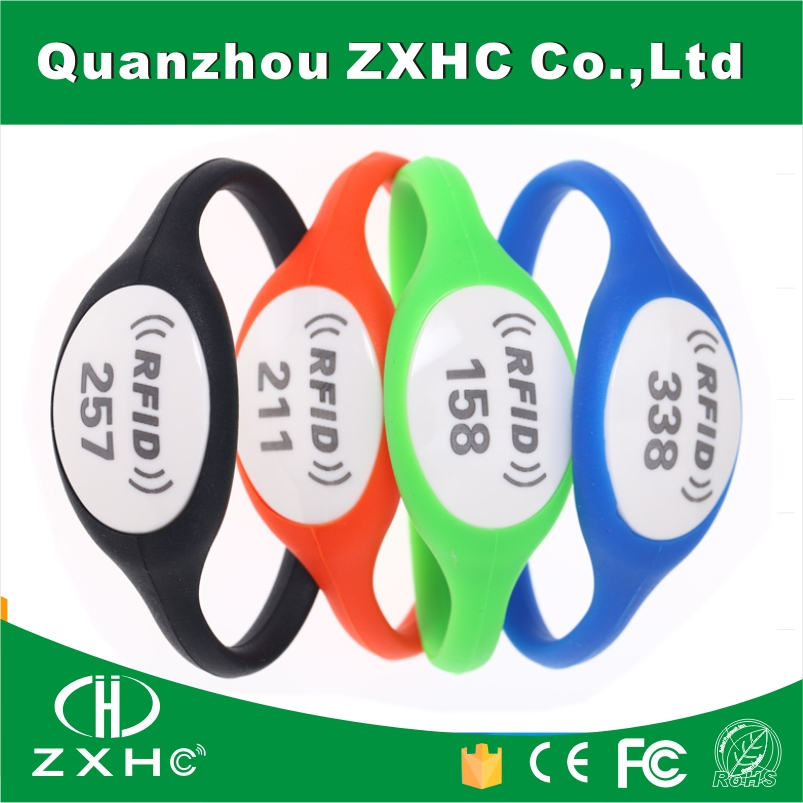 (100PCS) Ntag216 888Bytes NFC Bracelet Silicone Material 13.56Mhz RFID Tag For Sony and All NFC Phones 1000pcs long range rfid plastic seal tag alien h3 used for waste bin management and gas jar management