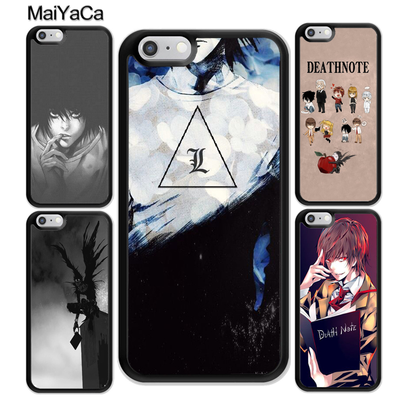 MaiYaCa Death Note Anime Pattern Soft Rubber Phone Cases