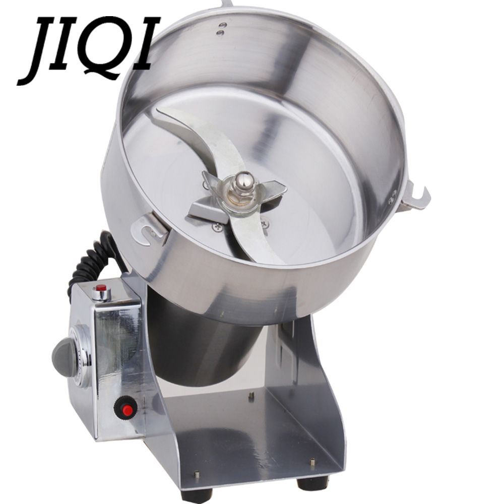 JIQI 2000g Médecine Chinoise Moulin Moulin À Grain Électrique machine de broyage Écrou Herbes Miller Concasseur Broyeur Pulvérisateur 110 V 220 V