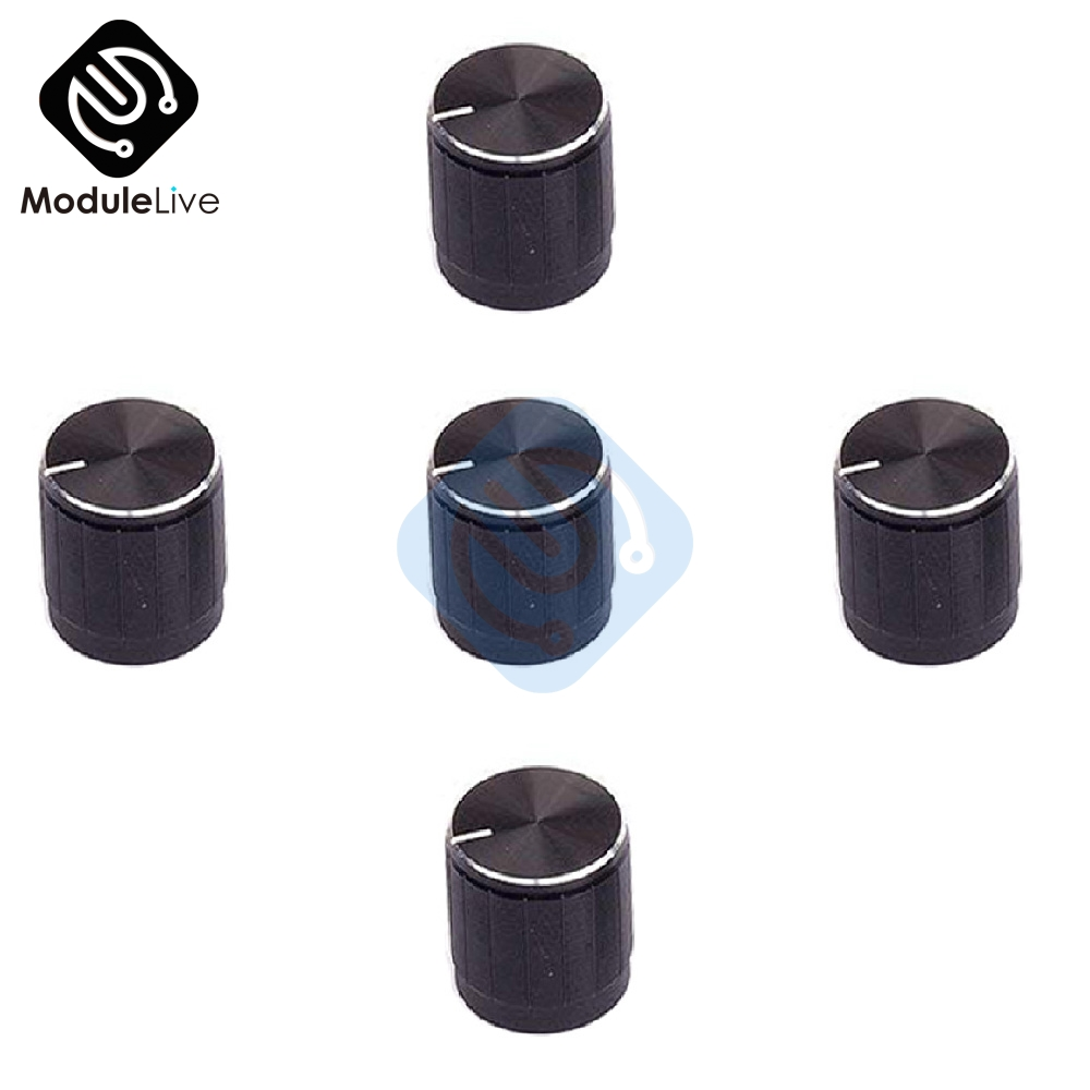 5PCS Aluminum Alloy Encoder Knob Half Shaft Hole Caps For KY-040 360 Degree Rotary Module For Arduino Brick Sensor Switch