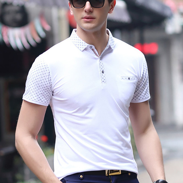 2017 Classic Business Polo Shirts Brand Men Cotton Polos Breathable Poloshirt Man Comfortable Tee Shirts