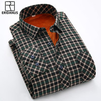 2017 New Winter Warm Men S Casual Plaid Shirt High Quality Cotton Thicker Long Sleeved Mens