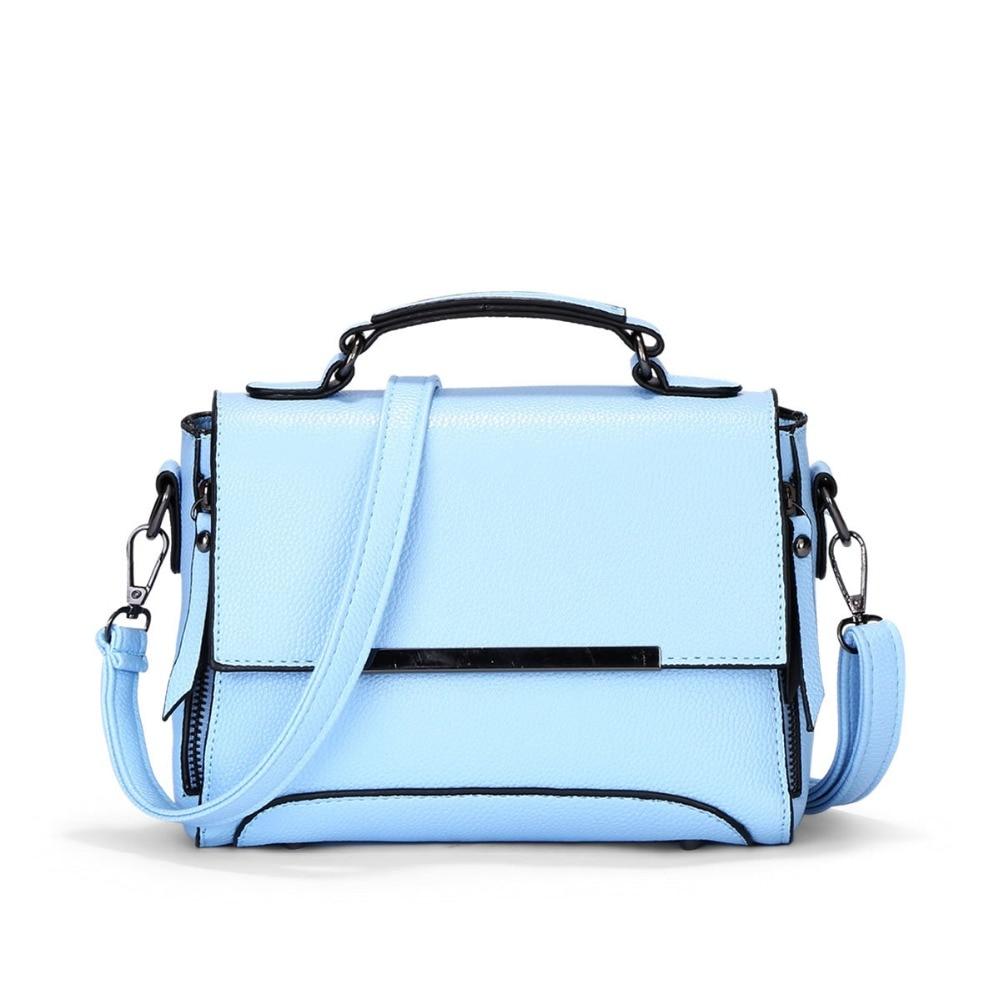 все цены на Spring Summer New Candy Color Fresh Small Women Handbags Bag Fashion Flag Women Messenger Bag Sky Blue Beige Colors 638 онлайн