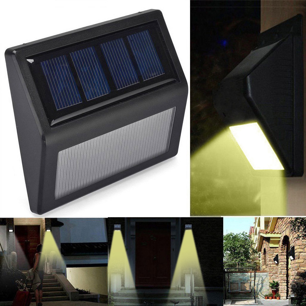 LED Solar Lamp Waterproof 6 LED Solar Power PIR Motion Sensor Wall Light Outdoor Garden Stairs Optically Controlled Lamp #20