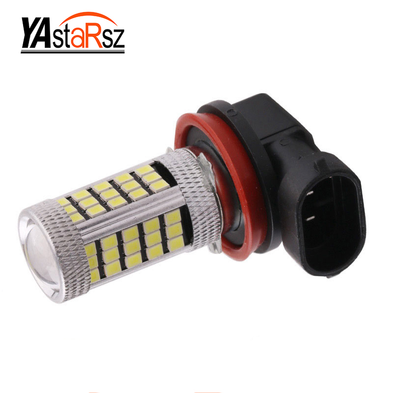 1Pcs Daytime Running Light H11 Fog Lights High Power Headlight Bulbs White 12V 18W 5630 SMD 6000K DRL Driving Light Car led dc12v h7 7 5w 5led led fog light high power car auto led xenon white daytime running light bulbs headlight head lights