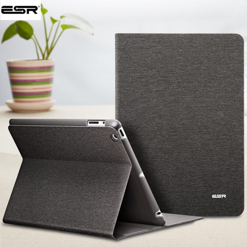 Étui pour iPad 2 3 4, ESR PU en cuir couverture intelligente étui portefeuille avec fonction de sommeil/réveil automatique couverture écologique pour iPad 2/3/4