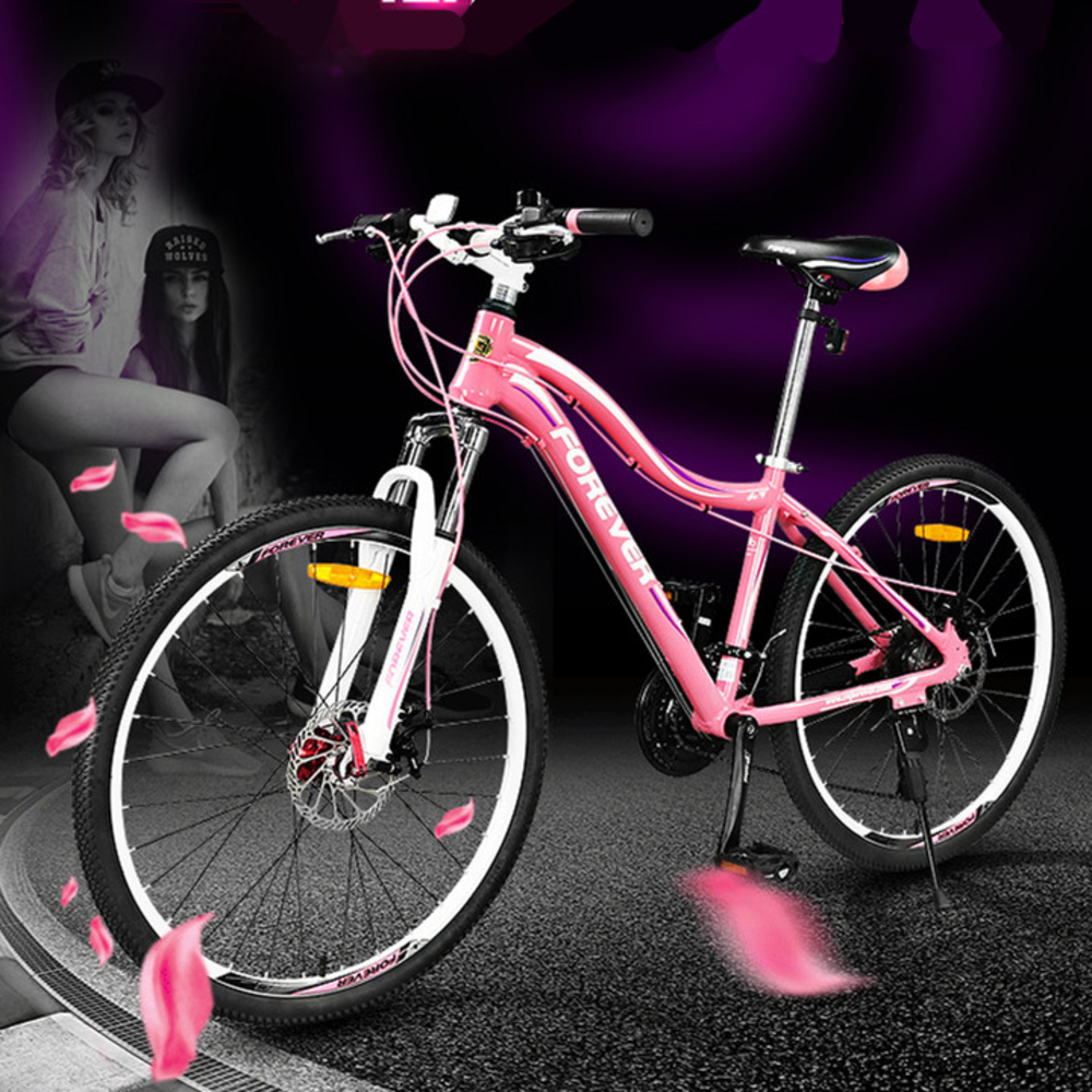 New Brand 27 Speed Aluminum Alloy Frame Low Span 26 Inch Women's Mountain Bike Outdoor Sport Girls Bicicleta Downhill Bicycle