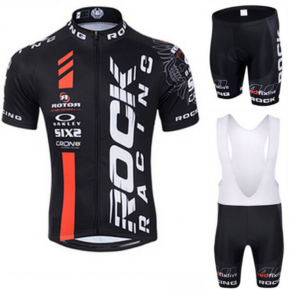 ФОТО 2016 ROCK RACING Pro Team Cycling Jersey Bicycle Clothing Road Bike Maillot Ropa Ciclismo Bike Bicycle Wear Breathable GEL Pad