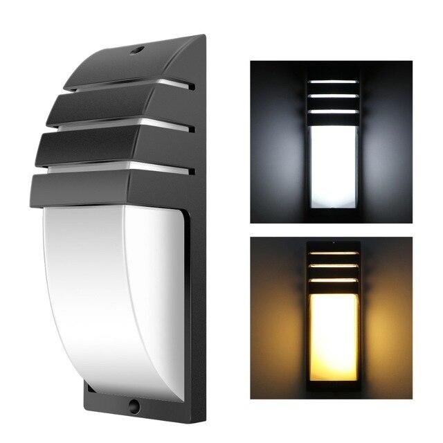 12W LED Wall Light Waterproof IP65 Modern Porch Lamp AC85-265V Outdoor Garden Home Hallway Retro 12W LED Wall Lamp