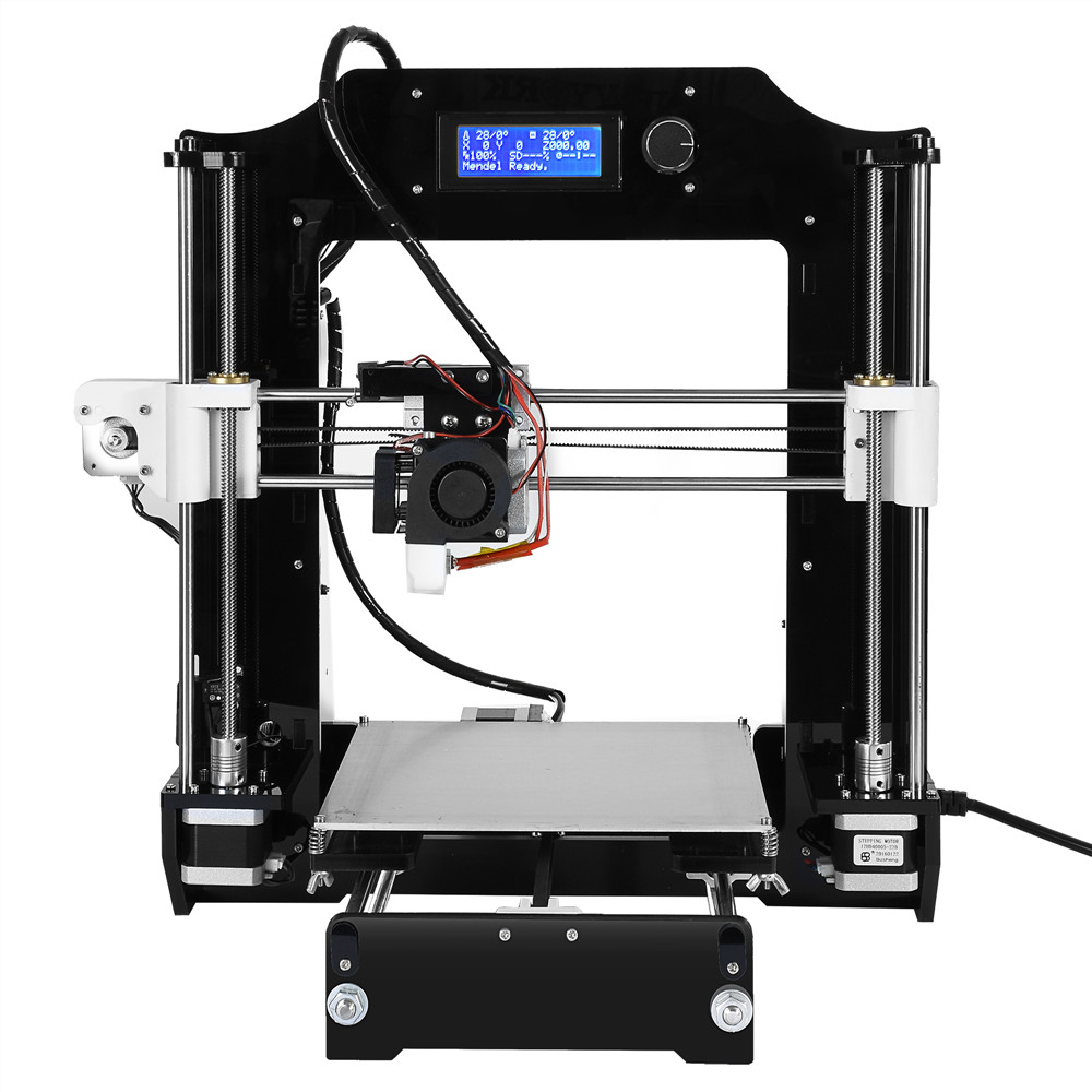 2016 Upgraded impresora 3d High Precision Reprap Prusa i3 DIY 3d Printer kit with 1 Roll Filaments 8GB SD card and LCD for Free