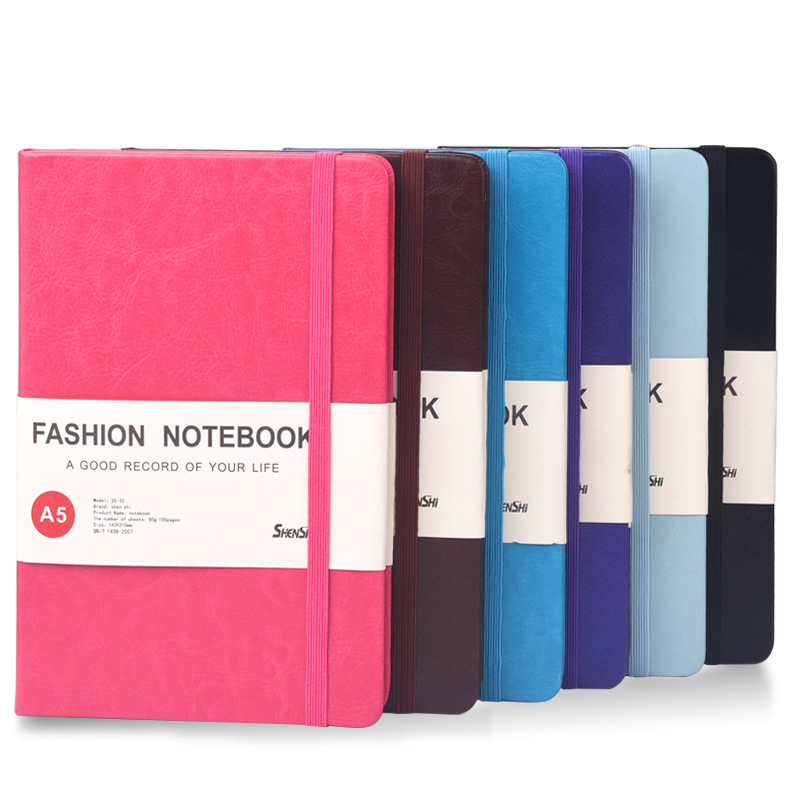 Hard Cover Business Notebook Creative Stationery Diary Ruled Line Journal Notebooks Writing Pads