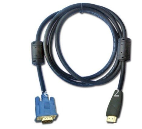 Free shipping 6FT HDMI Male to VGA HD-15 Male Video Cable