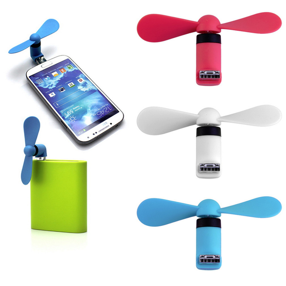 Dropshipping Portable OTG Mini Micro USB Large Wind Cooling Fan USB Mobile Fan For Android Phone Desktop Laptop Powerbank usb and micro usb phone fan