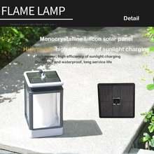 Светодиодный светильник на солнечной батарее с эффектом пламени