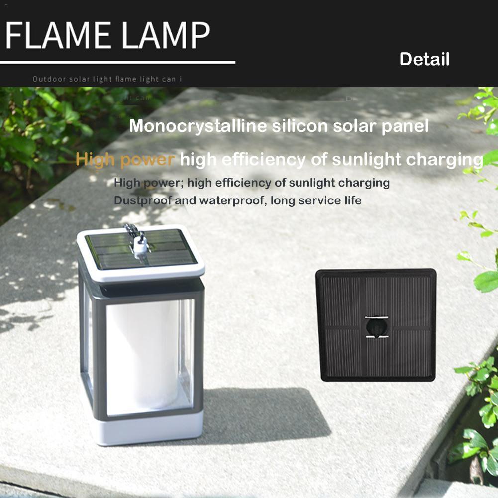 LED Solar Flame Light Outdoor Chandelier Decorative Waterproof IP65 Garden Terrace