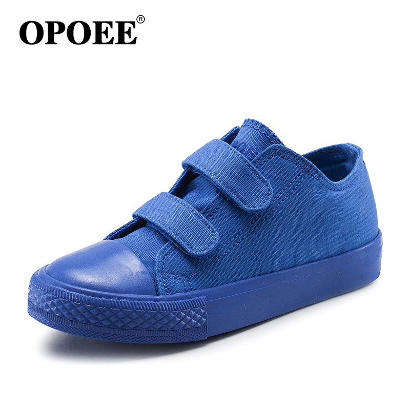 Children's Kids Canvas Shoes Famous Brand Candy Color Low Tops Cloth Students Boys Girls Casual Shoes 2017 New Blue Orange 25-38