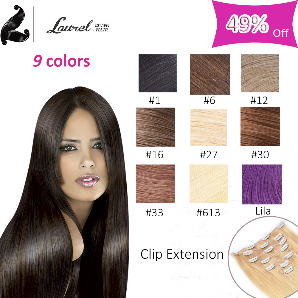 2016 Top Selling Brazilian Virgin Hair Straight Clip In Human Hair Extensions 22inch 24inch 7Pc 8Pc Grade 8A Brazilian Straight