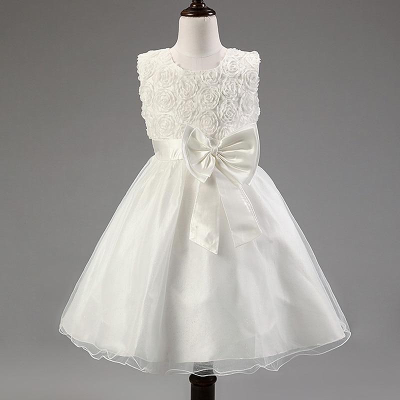 White pink red purple blue cheap flower girl dress for wedding party pageant dress vestido de daminha first communion dress