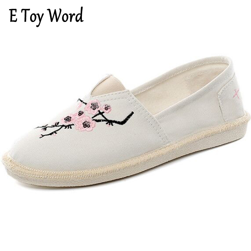 E TOY WORD Summer Hand Painted Canvas female students 2017 Korean version Pedal Lazy Shoes Women's flat Zapatillas Mujer Casual 2015 summer shallow mouth of canvas shoes women shoes a pedal lazy shoes casual flat white shoes korean wave shoes