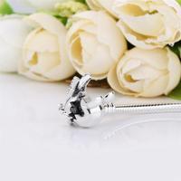 Ajax 100% 925 Sterling Silver Charm Pandora Bracelet Bangle Disney Mickey Mouse Fashion Bead Bracelet Gift