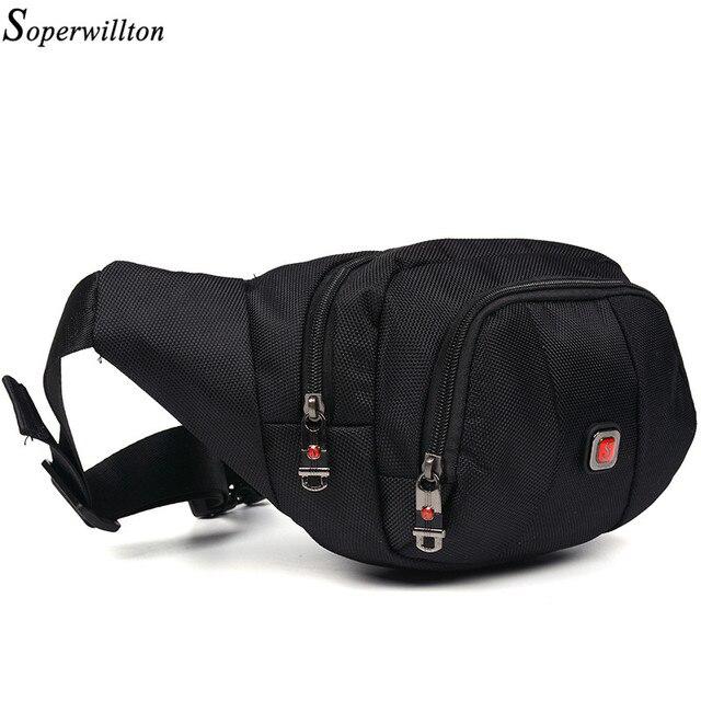 Soperwillton Brand 2018 New Men S Waist Pack Fashion Oxford Belt Bag For Man Male