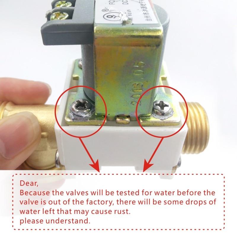 ᑎ‰G1/2 DN15 vanne eau dc12V électrovanne Normale Fermer ...