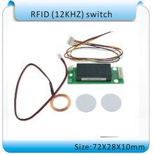 Free shipping DIY SY – RF188 Mini 125KHZ RFID smart switch, embedded switch RFID card reader+2 tags