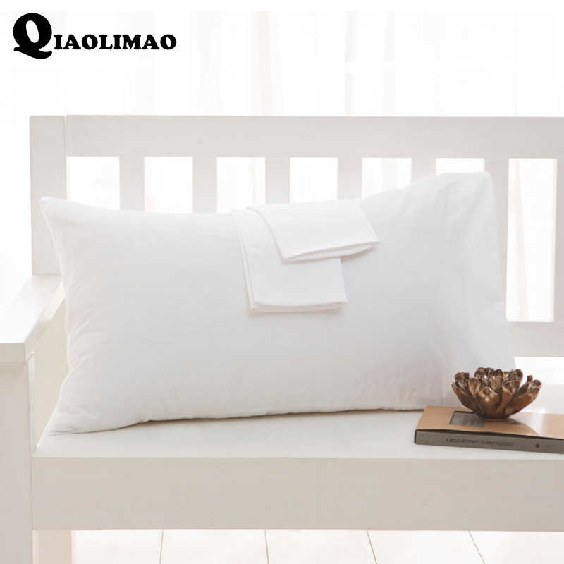 High Quality 100% Cotton Pillow Case 1/2Pcs Rectangular Sleeping Bed Pillow Cover Solid Color Pillowcase 40x60cm 50x75cm 50x90cm