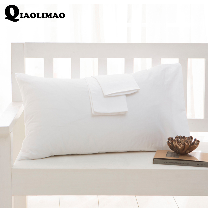 High Quality 100% Cotton <font><b>Pillow</b></font> <font><b>Case</b></font> 1/2Pcs Rectangular Sleeping Bed <font><b>Pillow</b></font> Cover Solid Color Pillowcase 40x60cm 50x75cm <font><b>50x90cm</b></font> image