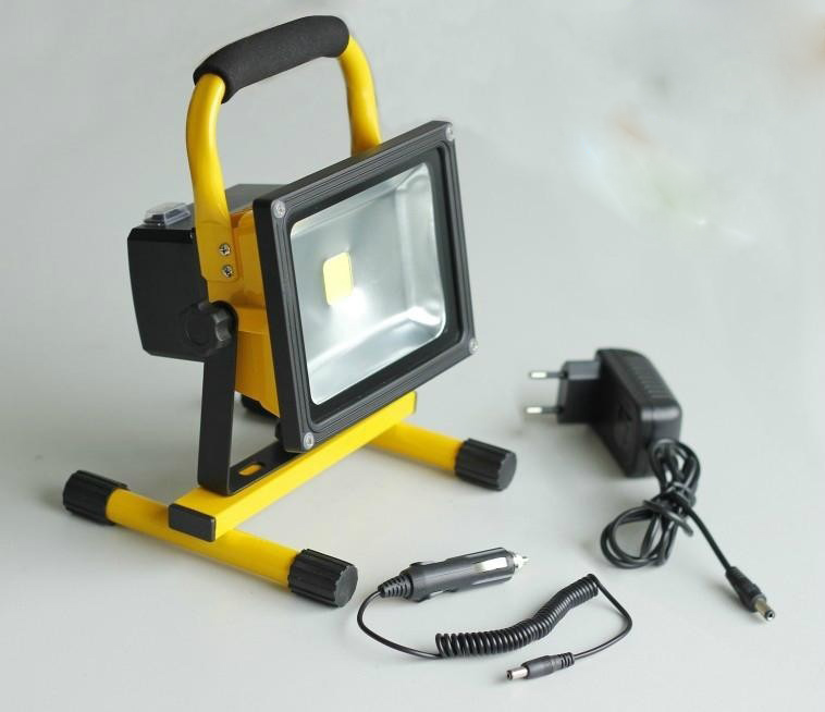 Free Shipping 20W Rechargeable Led Floodlight Lithium-ion Battery IP65 AC85-265V warm white,natural white, cold white free shipping polymer lithium ion battery 3 7 v 502030 can be customized wholesale ce fcc rohs msds quality certification