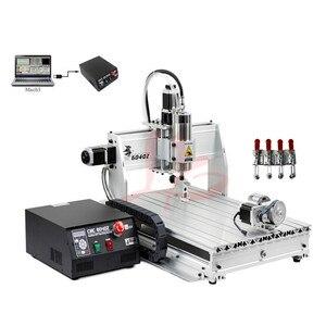 Image 4 - Máquina de perfuração de gravura do cnc do metal 6040z usb mach3 roteador madeira com 1.5kw vfd eixo e cortador pinça braçadeira vise perfuração