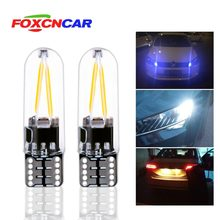 Foxcncar led W5W led T10 6500K 4300K glass car light Led filament auto automobiles reading dome bulb lamp DRL car styling 12v(China)