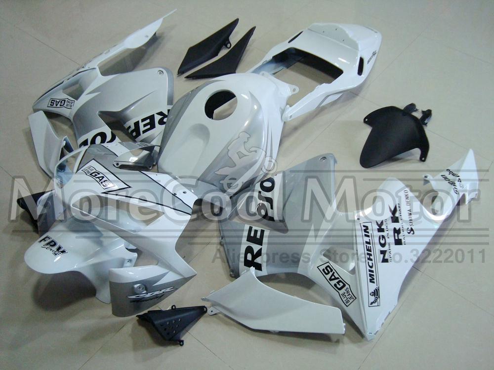 Repsol White And Silver 2003 2004 CBR600RR Fairings For Honda Complete ABS Plastic F5 Fairing Body arashi motorcycle parts radiator grille protective cover grill guard protector for 2003 2004 2005 2006 honda cbr600rr cbr 600 rr