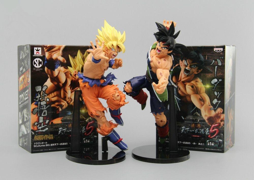 Huong Anime Dragon Ball ZOKEI 5 2 PCS/ENSEMBLE 22 CM Fils Goku VS Barduck PVC Figurines Collection Modèle Jouets