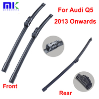 QEEPEI Car Wiper Blades For Audi Q5 2013 Onwards Combo Front And Rear Silicone Rubber Durable