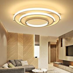DX современные светодиодные светильники потолочные светильник для Гостиная Nordic Стиль удаленного Управление лампа круглый круг светильник
