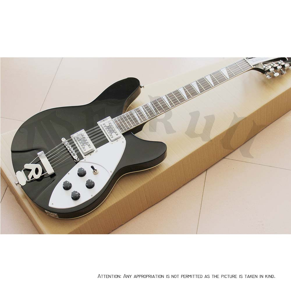 musical instrument professional electric guitars rickenback guitar 12 string black solid body rickenback jazz guitar in stock high quality musical instrument cherry sunburst classical hollow guitar body es jazz guitars china lefty available